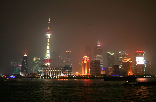 Pudong District and the Oriental Pearl Tower