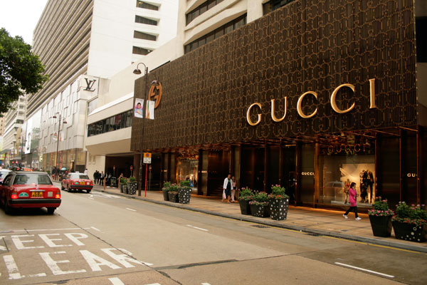 Canton Road and its luxury brand stores