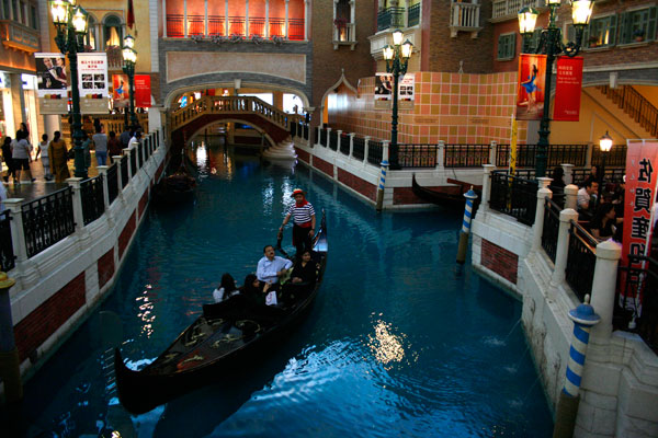 'The Grand Canal Shoppes' inside the Venetian Macau
