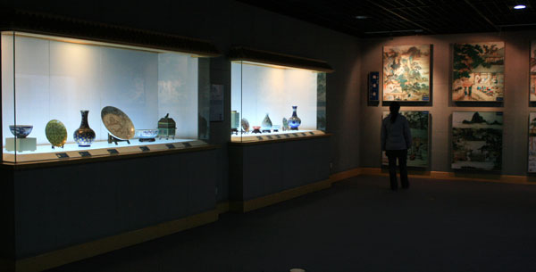 One of the large number of porcelain displays