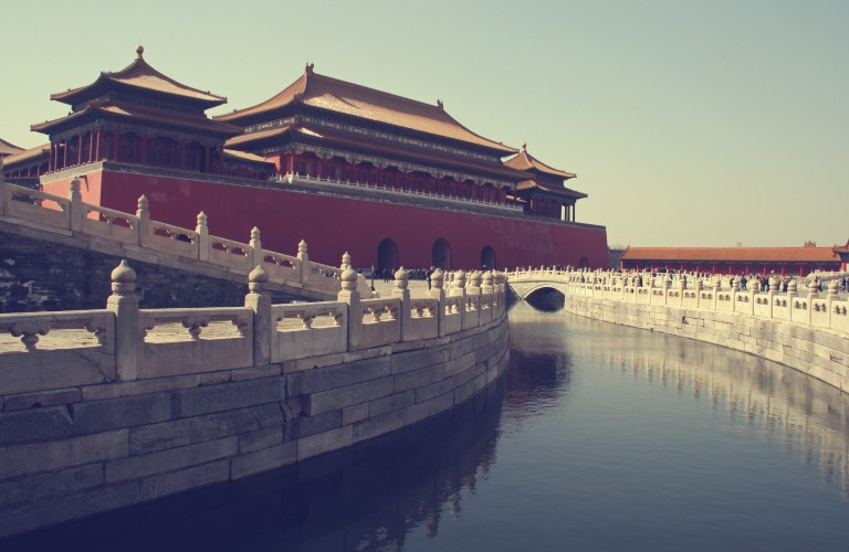 Beijing, China - March 26 - The Meridian Gate at the Palace Museum (Forbidden City) 2010