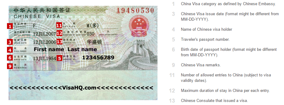china-visa-information